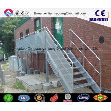 Escalera exterior de acero prefabricada para taller y almacén (JW-16250)