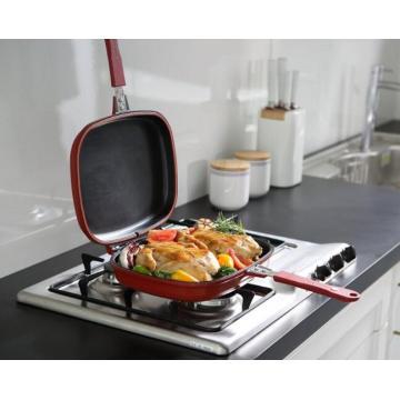 Doble cara aluminio pan de freír diámetro 30 cm