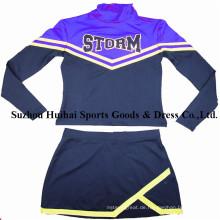 Langarm-Cheerleader-Uniformen