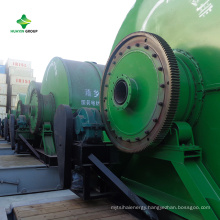 Portable Small Waste Tire Plastic Pyrolysis Plant to Oil With Container