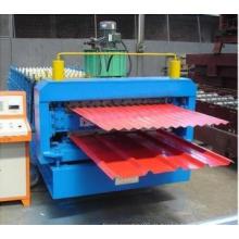 Kundengebundene Qualitäts-doppelte Stahlfliesen-Rolle, die Maschine bildet