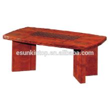 Mesa de centro de madera grande para la oficina usada. Mesa de madera de alta calidad para la venta (T001)