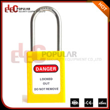 Thin Stain Steel Shackle Safety Padlock Electric Lock