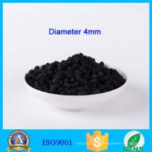 La Chine fournissent le charbon actif pelletisé de 4mm pour le système d'échappement de cuisine