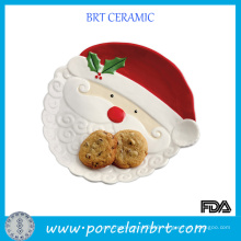 Father Christmas Ceramic Cookier Plate
