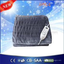 Flannel Throw cobertor com borda vinculativa para o mercado da América do Norte
