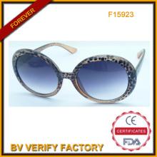 F15923 Nueva moda de plástico mujer gafas de sol
