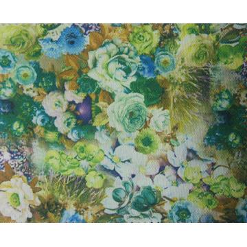 Tissu de fleur imprimé par polyester 900d avec le revêtement d'unité centrale