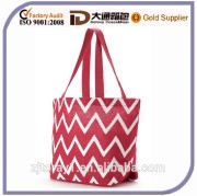 Chevron Shopper Bag Fashion Beach Jute Bag Handbag