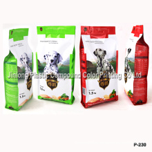 Quad Sealed Dog Food Bag with Zipper