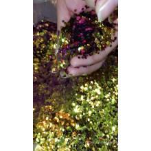 venta al por mayor a granel PET cambio de color brillo para cambio de artesanía polvo de brillo de camaleón
