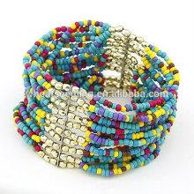Popular Multilayer contas de vidro semente grânulos pulseiras FB27