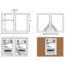 Papel de copia adhesivo troquelado en blanco 8.5 * 11 etiqueta de envío