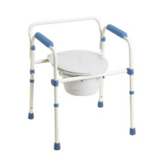 Height adjustable commode chair with bedpan CM002