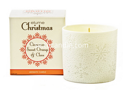 christmas ceramic decorative snowflake scented candles