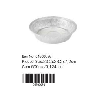 D23.2 cm Alufolie Runde Kuchenform