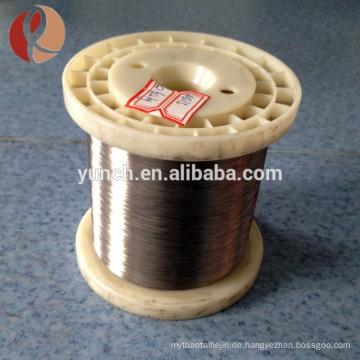Chinesischer Lieferant 0,025 mm pure Widerstand Nickel Draht zum Verkauf