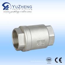 Нержавеющая сталь 2PC вертикальный обратный клапан Пзготовителей