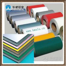 Decorative coated aluminium sheet