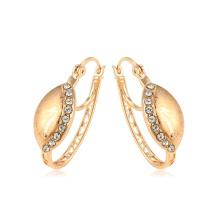 95038 xuping nuevo diseño antiguo real 18k oro color rhinestone damas pendientes de aro