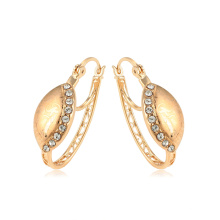 95038 xuping new design ancient royal 18k gold color rhinestone ladies hoop earrings