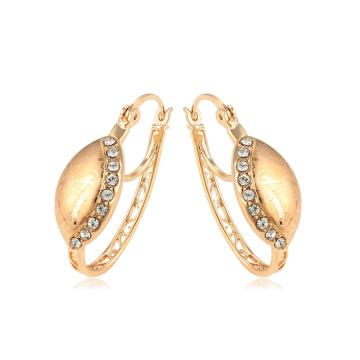 95038 xuping nouveau design antique royal 18k couleur or strass dames boucles d'oreilles