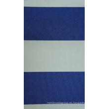 Oxford poliéster 450d Hilo teñido rayas de la PU tela