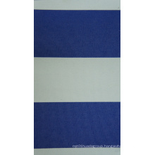 Oxford Polyester 450d Yarn Dyed PU Stripes Fabric