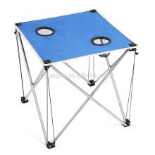 Mini mesa de lona de design / mesa de churrasco / mesa de jantar dobrável