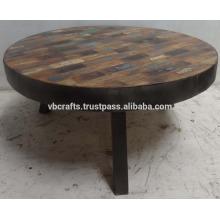 Industrial Urban Loft Round Coffee Table