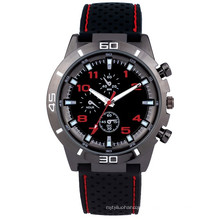 Factory supply mens watch with PU strap and PC21 movement