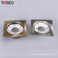 Pressing metal recessed lamp cover chrome dia 108*108mm cutting 85mm GX53 led down light housing