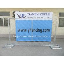 Panneaux d'escrime de sécurité soudés au Canada, panneaux de clôture en acier soudé revêtu de PVC, panneaux de clôture
