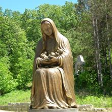 grandes esculturas al aire libre metal artesanía estatua de bronce virgen maría