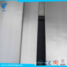 Barre plate en acier inoxydable 304 et barre plate galvanisée à chaud brillant fini