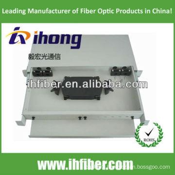 Fiber Optic Termination Box Rack mount, slidable. SC24 Port