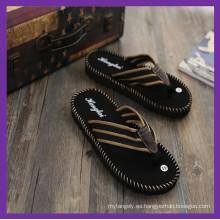Chanclas, lona superior correa TPR suela exterior sandalias, zapatillas