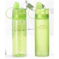 Botellas de plástico portátiles con tapa, taza de agua de spray de refrigeración, botellas creativas de deportes al aire libre