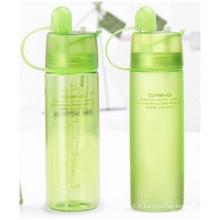 Bouteilles en plastique portatif avec couvercle, Hotte d'eau de refroidissement, bouteilles créatives de plein air