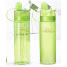 Portable Plastic Bottles with Lid, Cooling Spray Water Cup, Creative Outdoor Sports Bottles