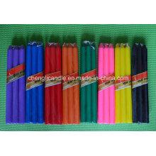 Paraffinwachs-Material farbiger Stock geformte dekorative Abendessen-Kerzen