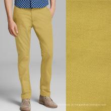 106gsm 60 * 60 160x120 calças de algodão calças de negócios calças de golfe de tela de tecido calças de tintura de tecido