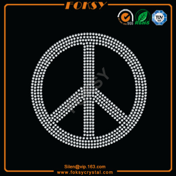 Peace Love iron on rhinestones wholesale