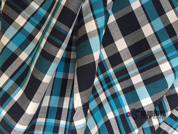 Polyester Blend Yarn Dyed Shirting Fabric