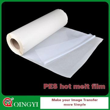 Film adhésif chaud de fonte de QINGYI PES pour le panneau composé en aluminium