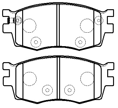 Hyundai accent brake pads WVA24317
