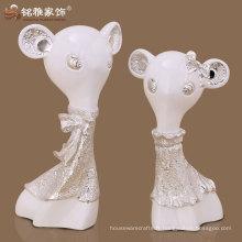 figurine de rat de carré matériau polyreson décoration intérieure de haute qualité