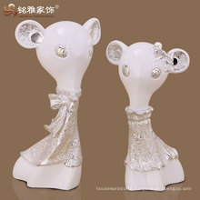 cartoon rat figurine polyreson material high quality interior decoration
