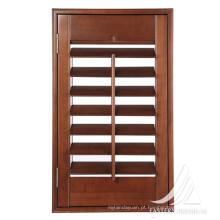 Top venda personalizado persianas de janela de plantação de madeira sólida