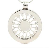 Forma de flocos de neve Cruz moeda medalhão placas colar pingente de design para as mulheres